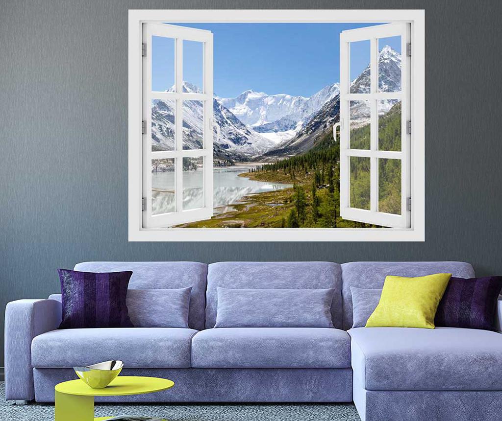 Sticker 3D Window Russia Mountain imagine