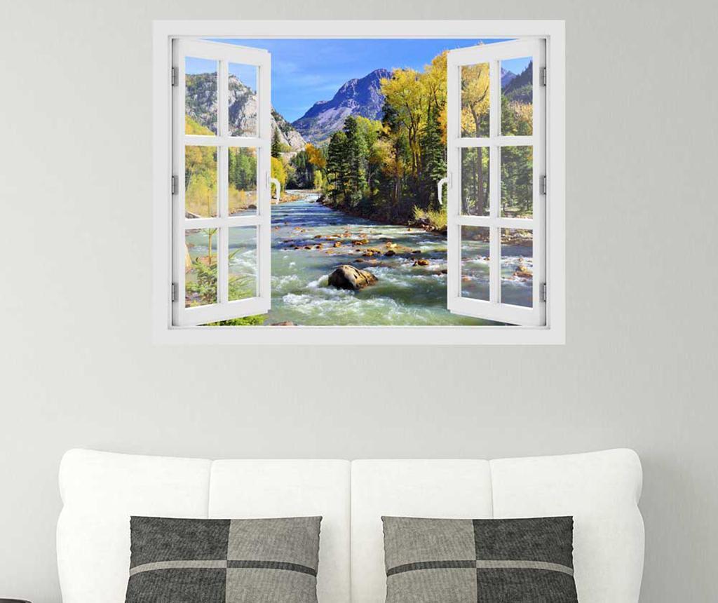 Sticker 3D Window Colorado Mountain River imagine