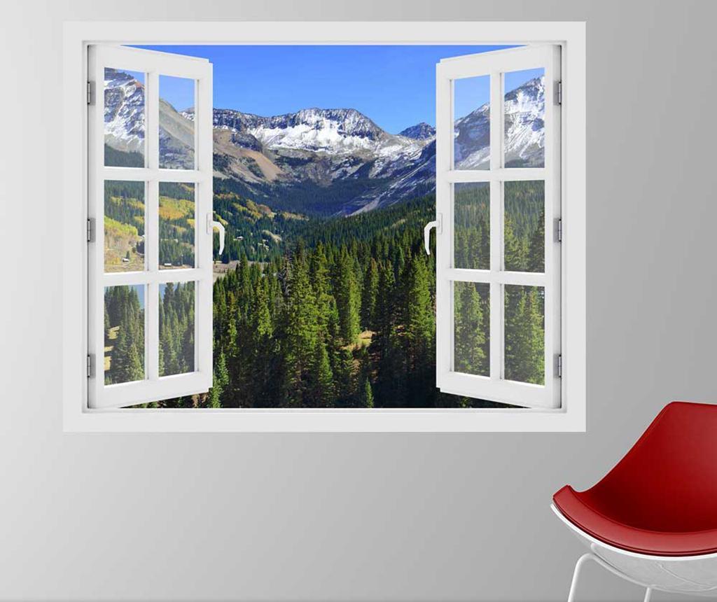 Sticker 3D Window Colorado Mountains Autumn imagine
