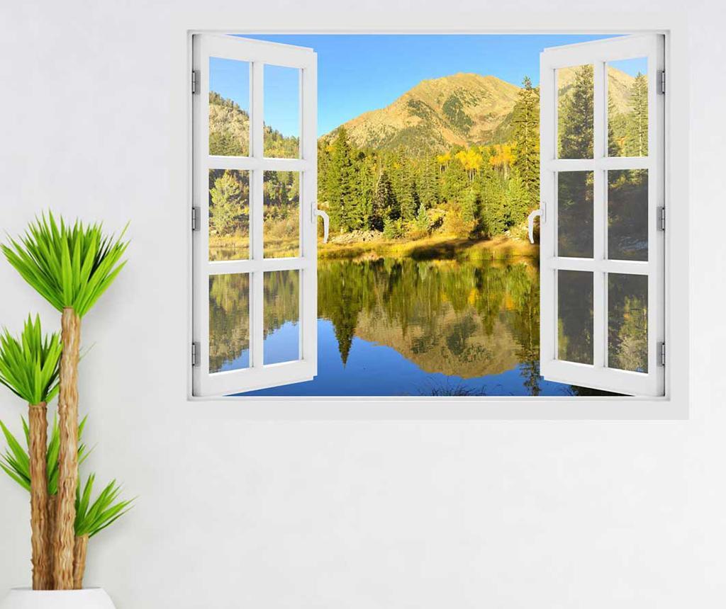 Sticker 3D Window Colorado Mountains Silence imagine
