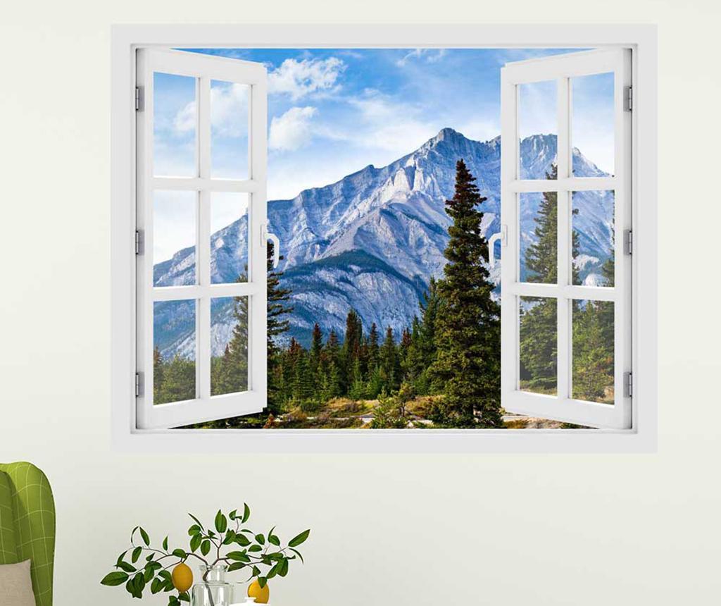 Sticker 3D Window Canada Alberta Mountains imagine