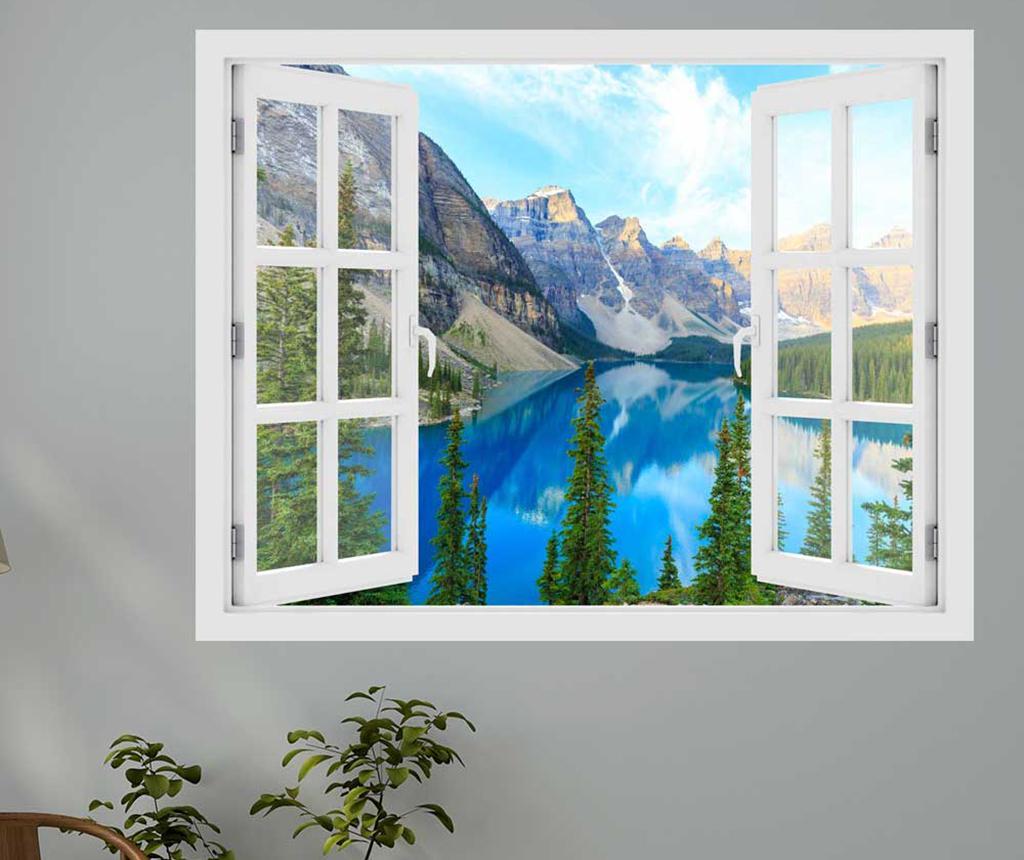 Sticker 3D Window Canada Moraine Lake imagine