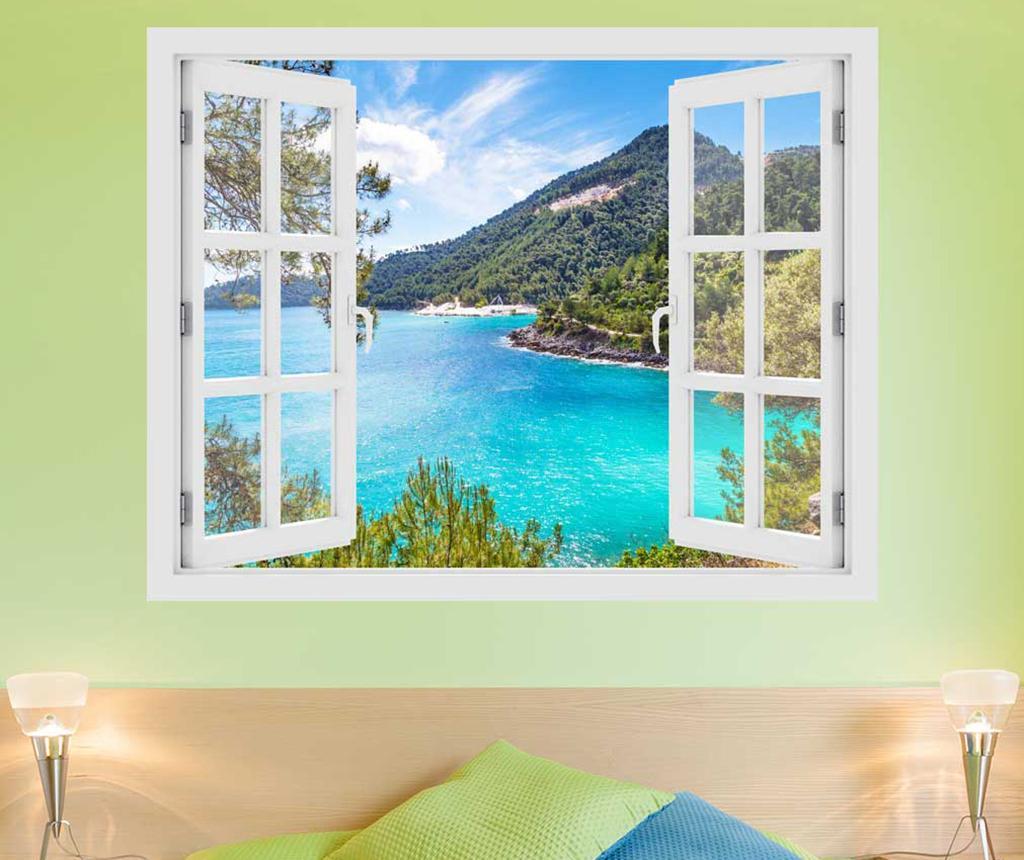 Sticker 3D Window Greece Thassos Island imagine