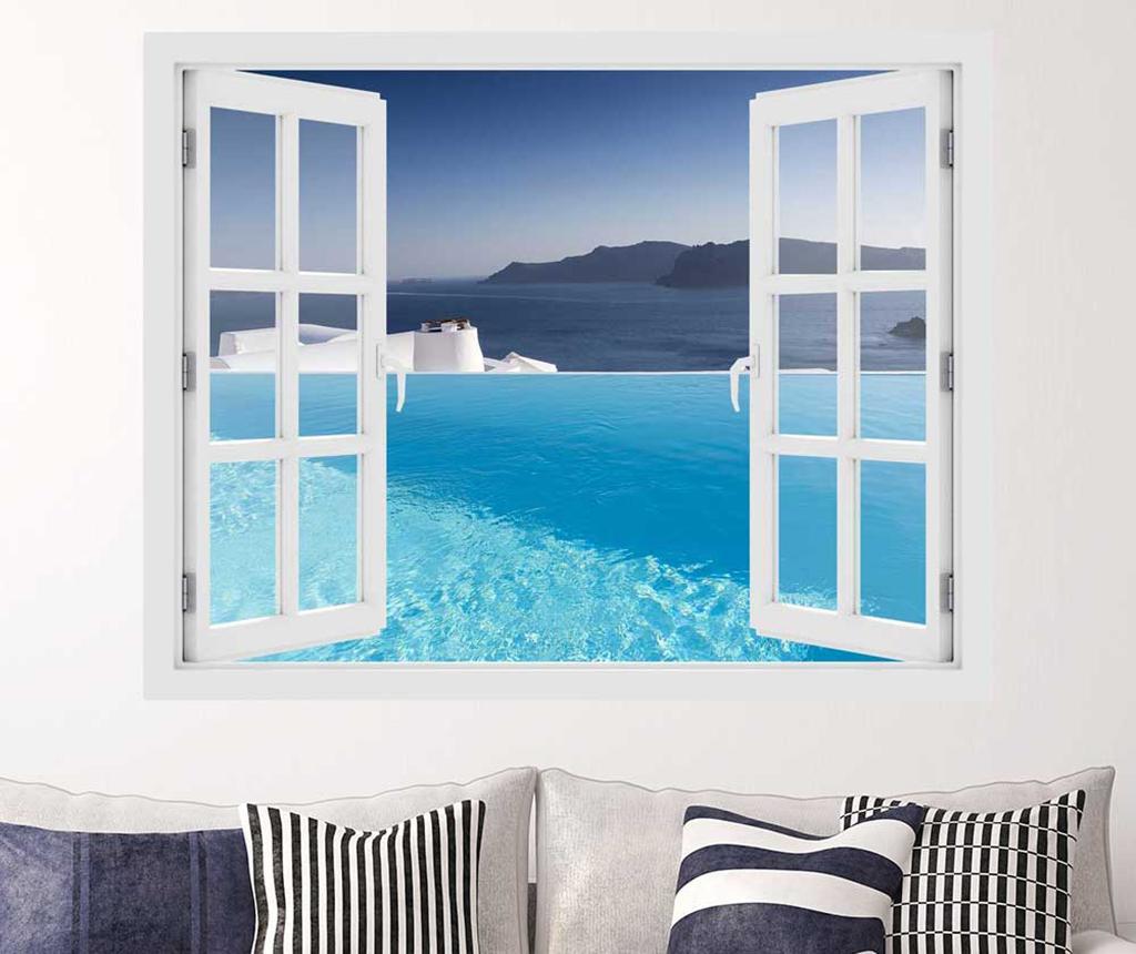 Sticker 3D Window Pool Aegean Sea - BeeStick, Multicolor poza
