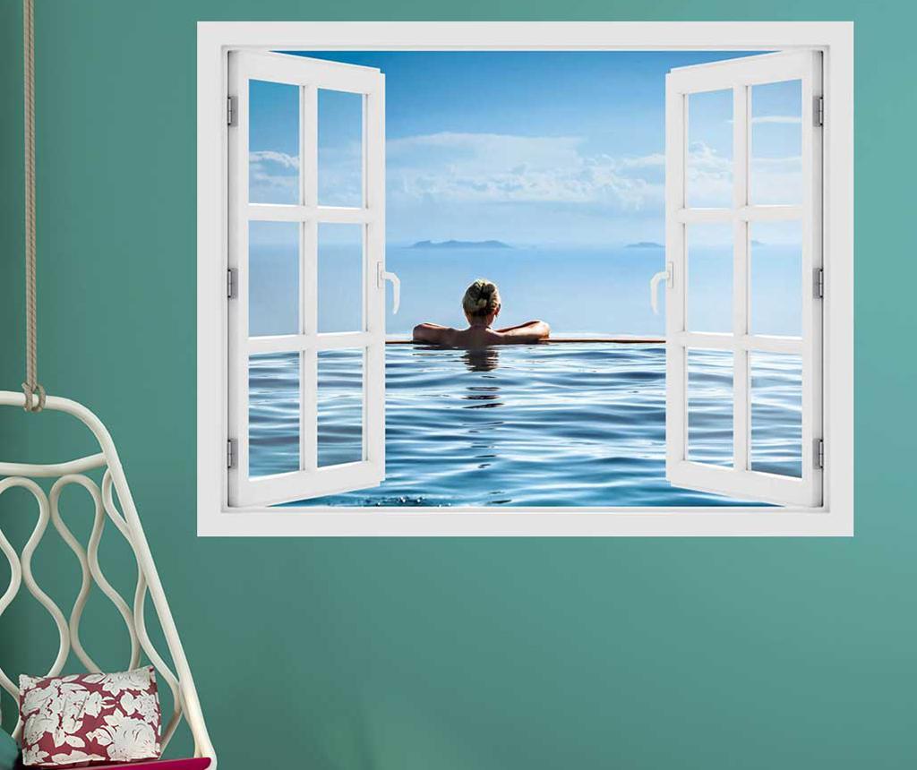 Sticker 3D Window Pool Relax imagine