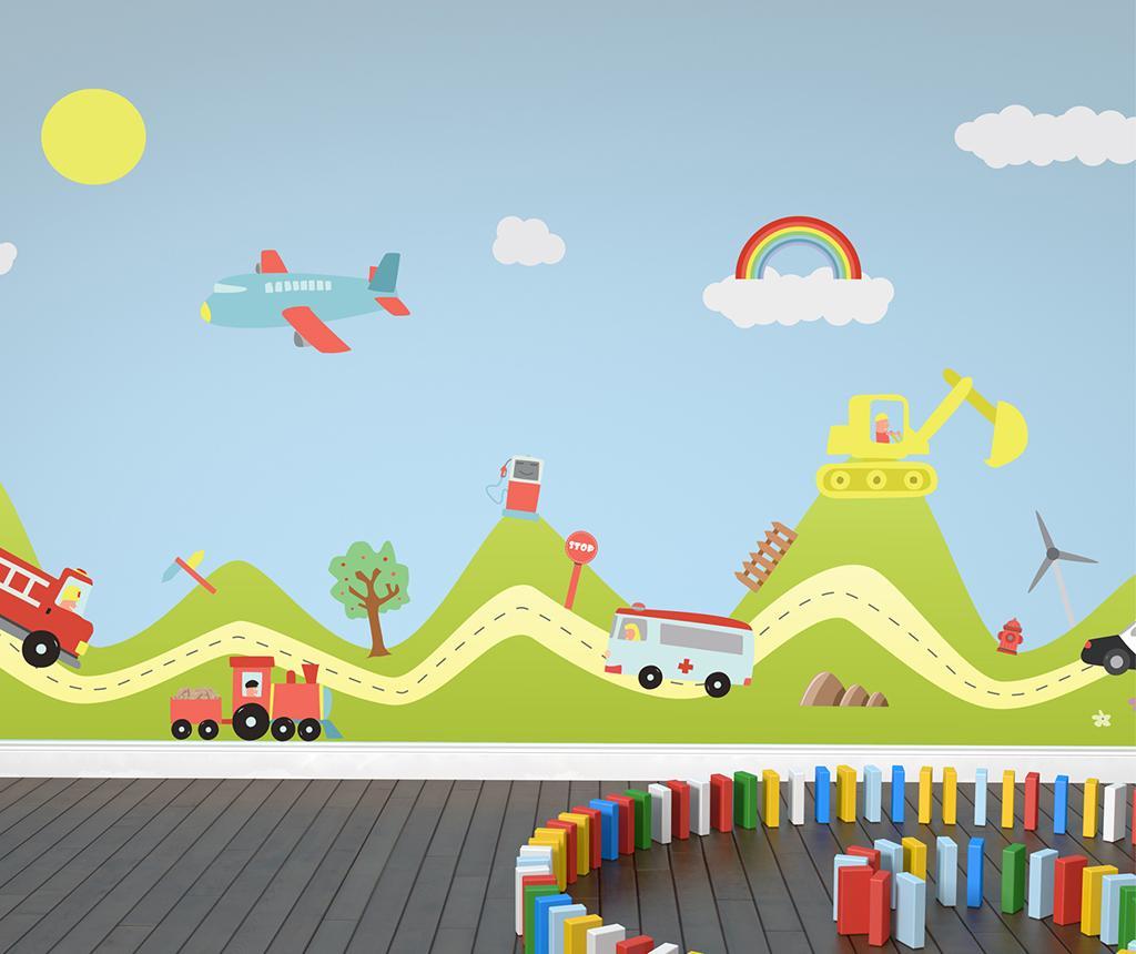 Sticker Happy Cars - Wallplus, Multicolor imagine