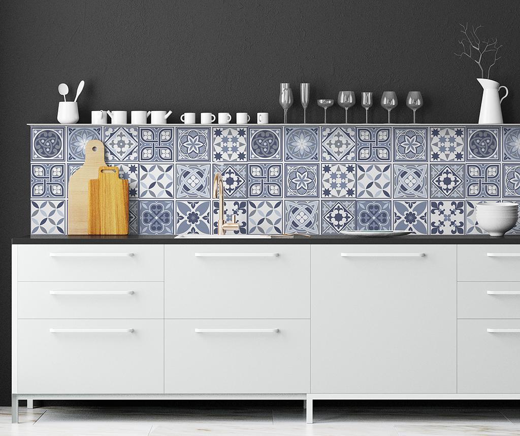 Set 24 stickere Tile Lisbon Blue imagine