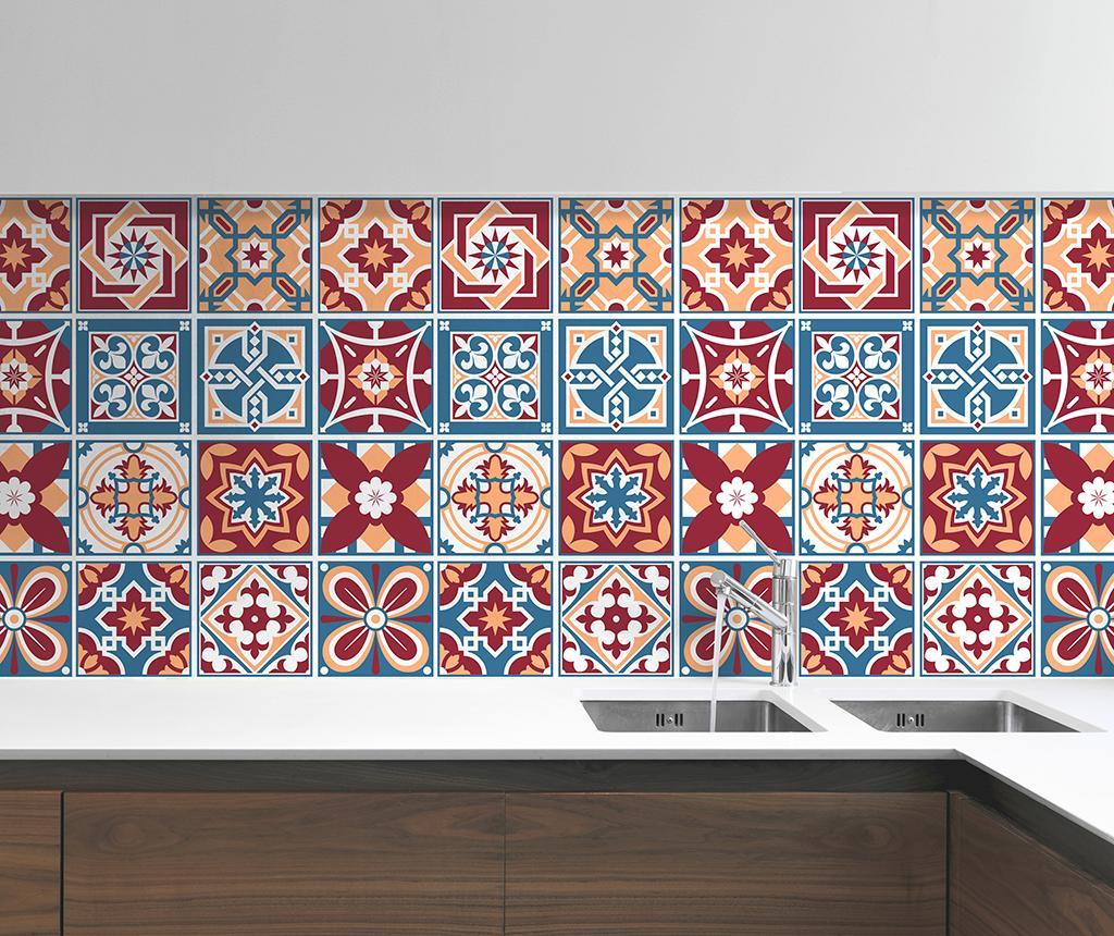 Set 24 stickere Tile Westminster - Wallplus, Multicolor poza noua