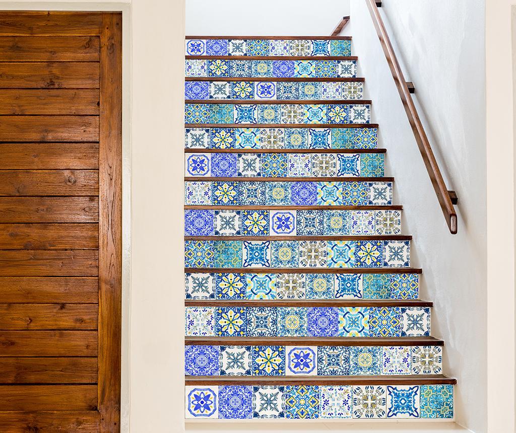 Set 24 stickere Tile Gradient Blue imagine