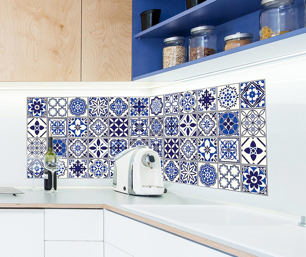 Set 12 stickere Tile Morrocan Blue imagine