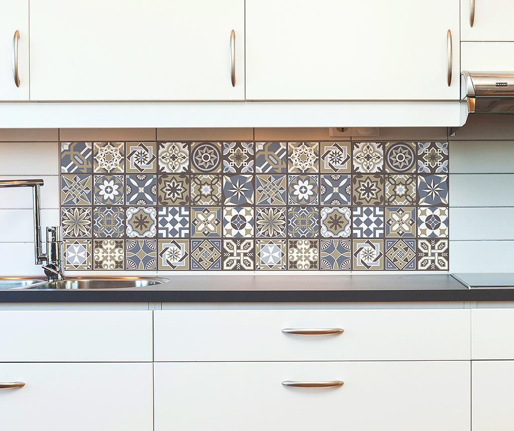 Set 12 stickere Tile Limestone imagine
