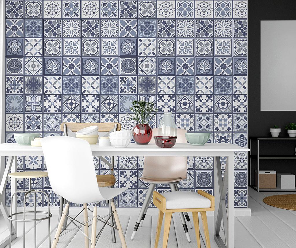 Set 12 stickere Tile Lisbon Blue imagine