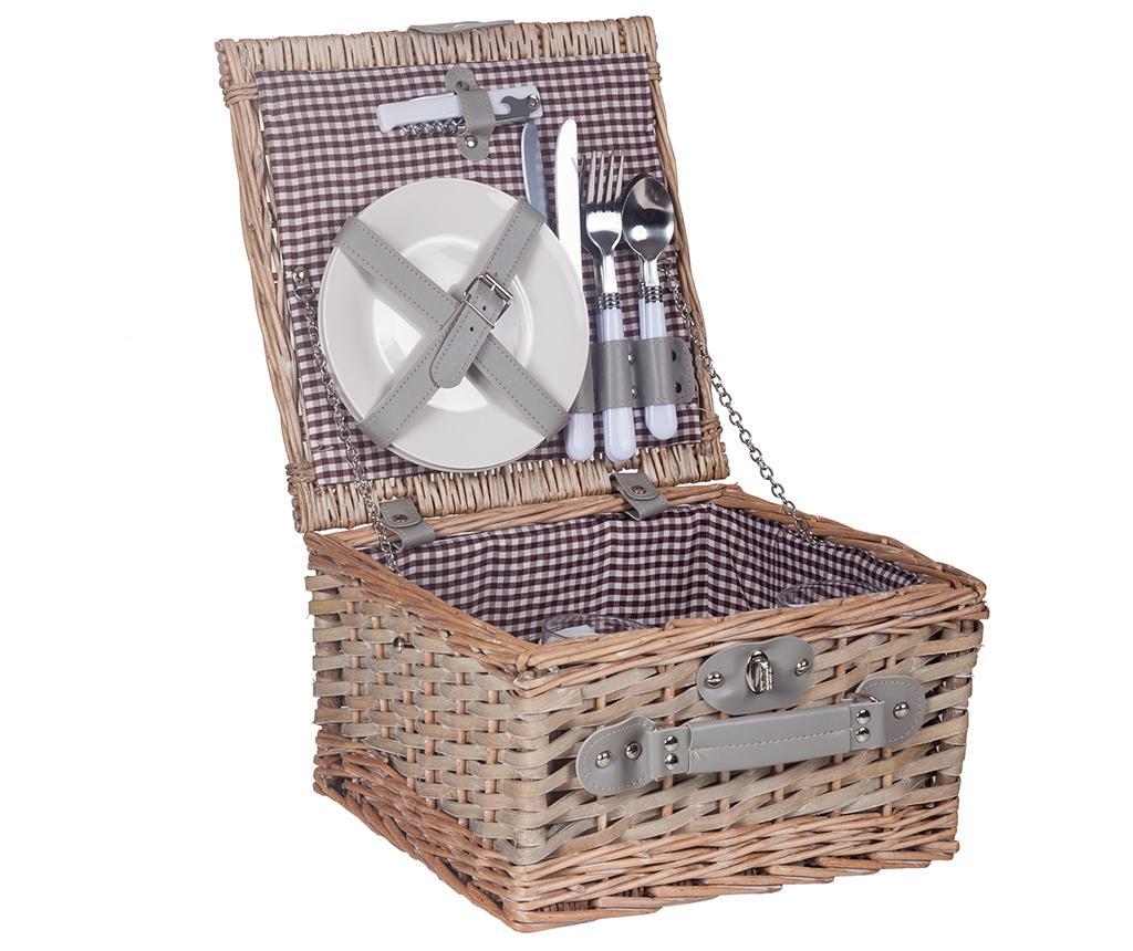 Cos echipat pentru picnic 2 persoane Sol imagine
