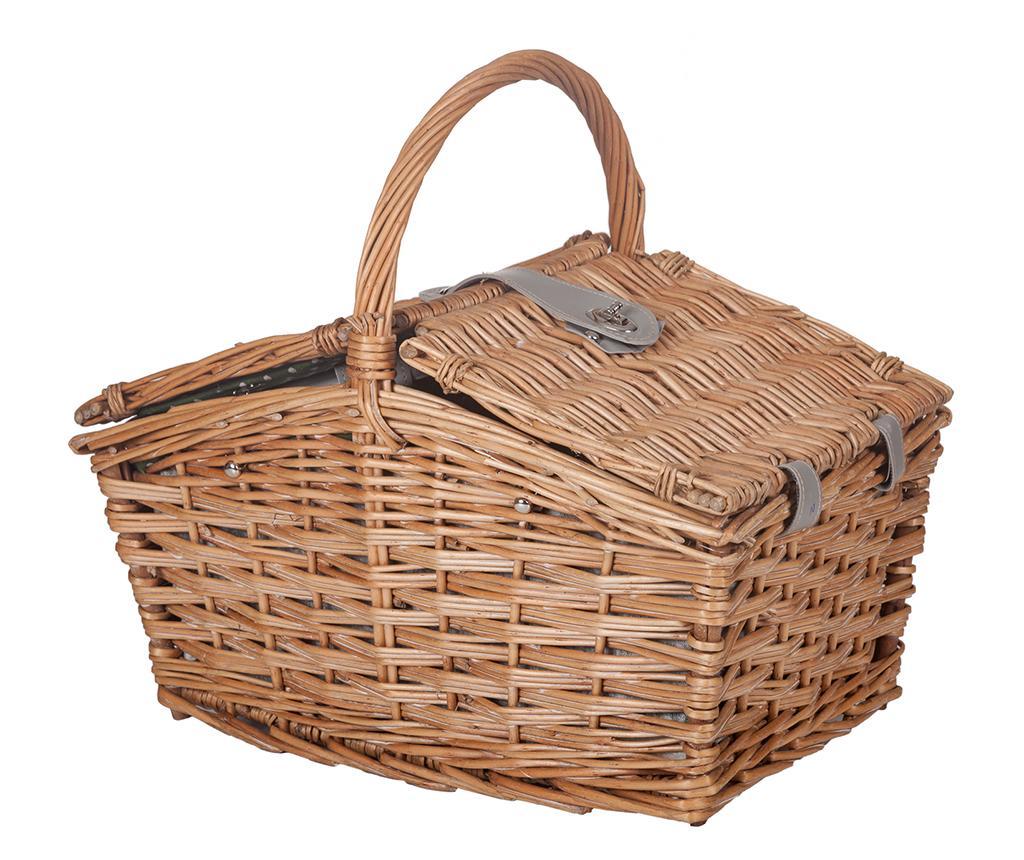 Cos echipat pentru picnic 2 persoane Carola - Creaciones Meng, Maro imagine