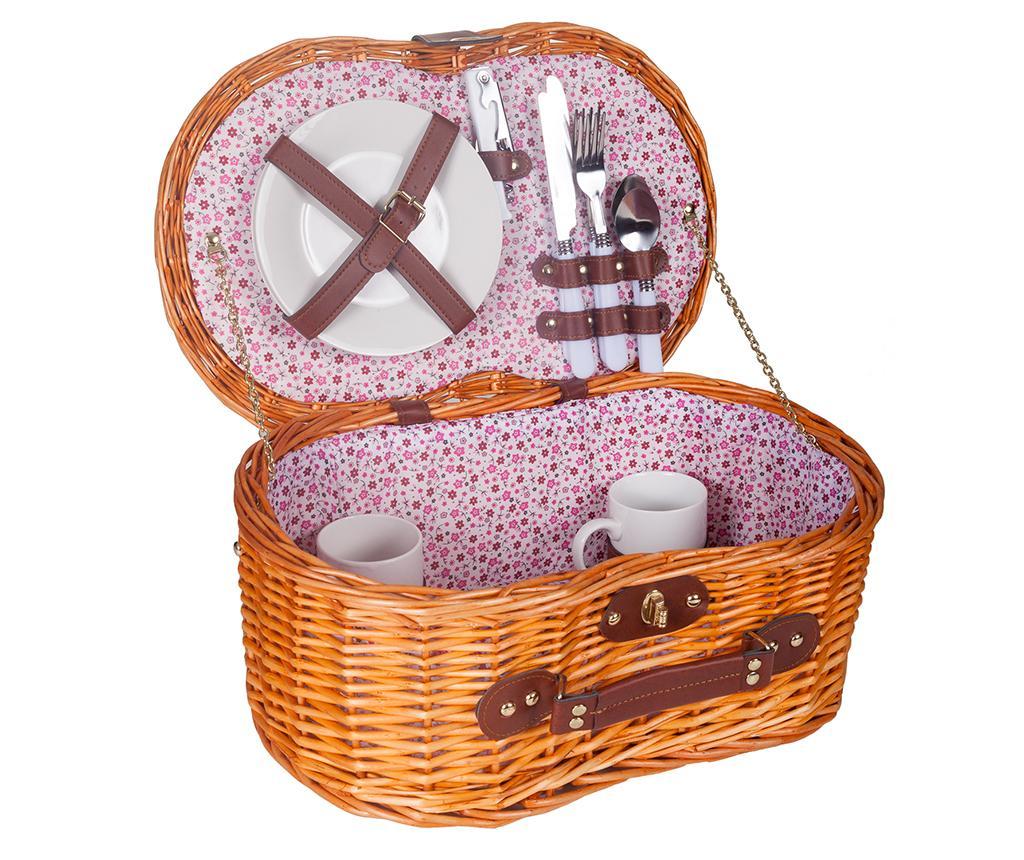 Cos echipat pentru picnic 2 persoane Lavander - Creaciones Meng, Maro imagine