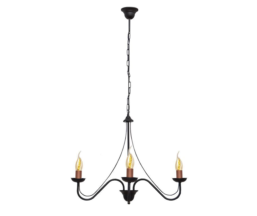 Závěsná lampa Malbo Chain Three Black Brass