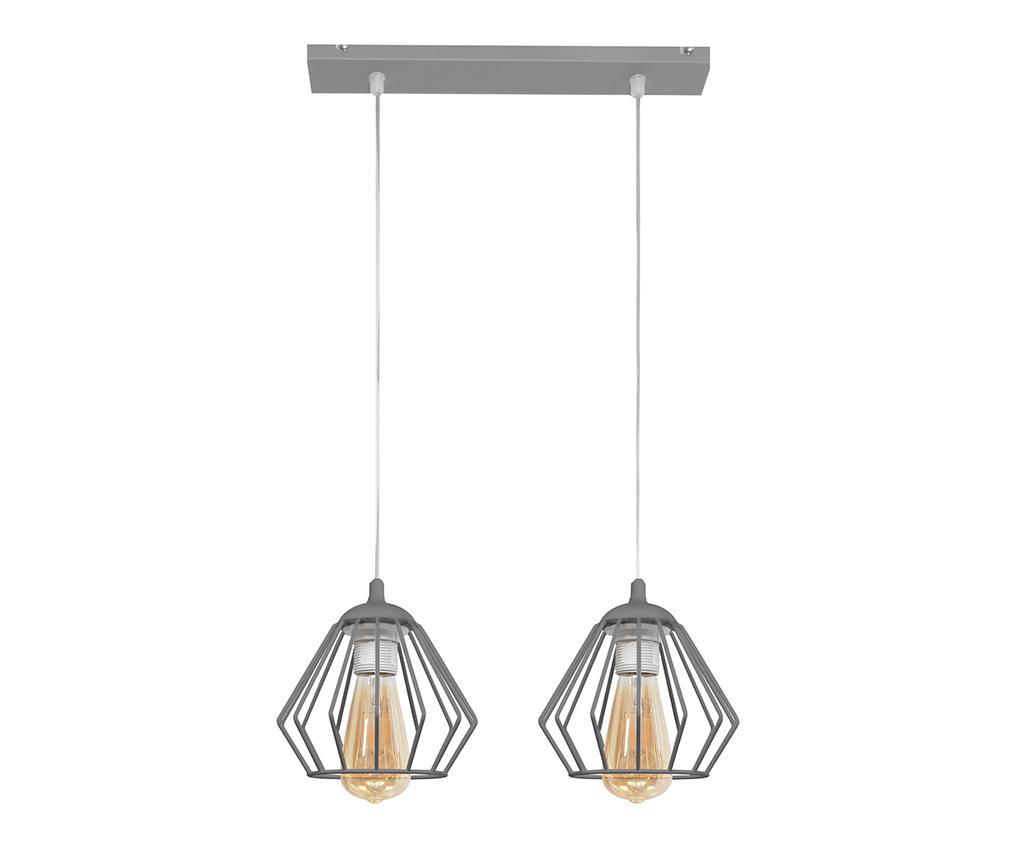Závěsná lampa Agat Two Grey
