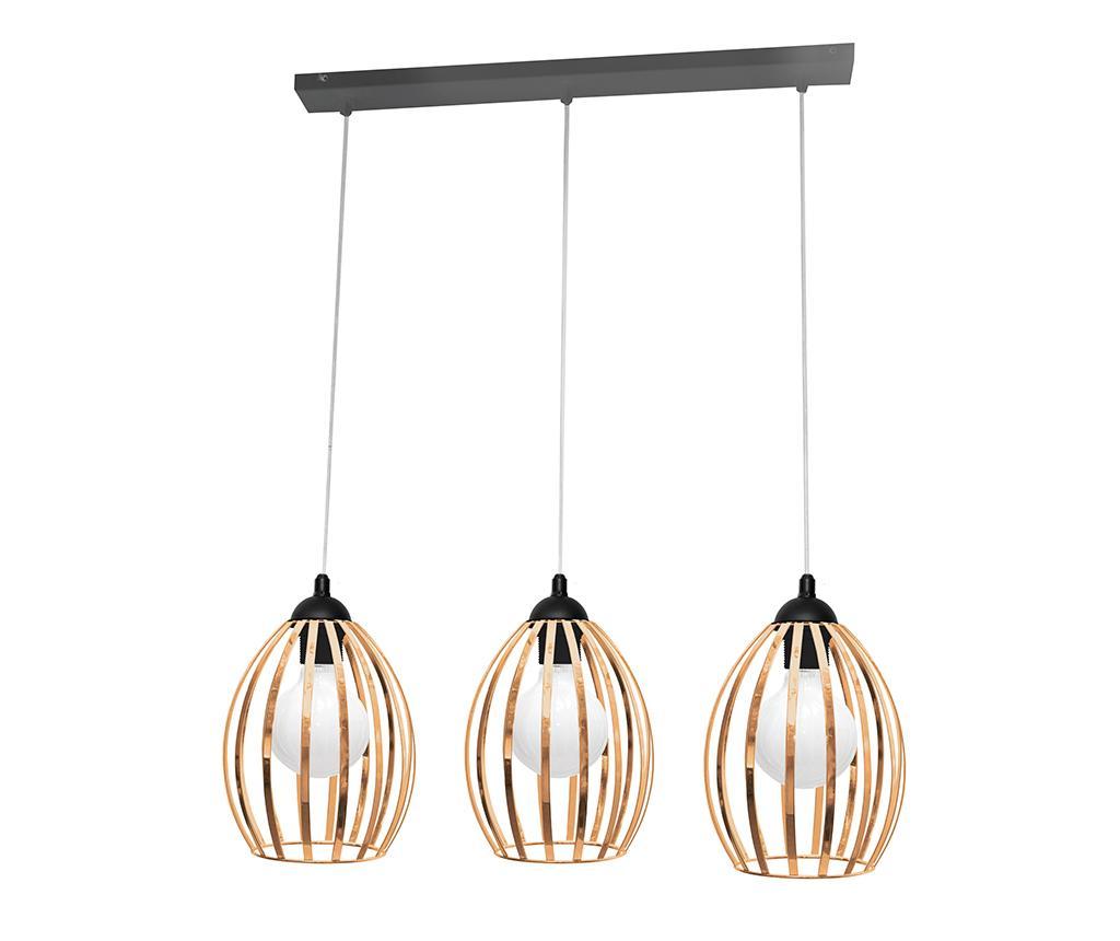 Závěsná lampa Dali Three Black Brass