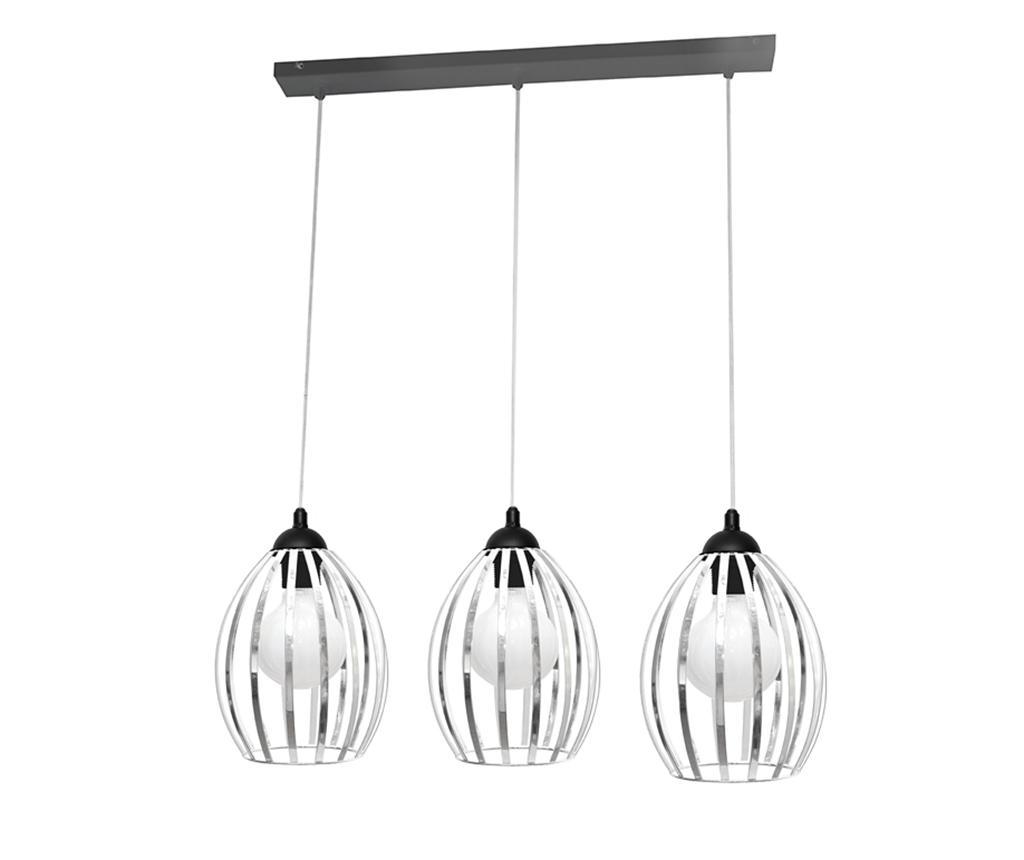 Závěsná lampa Dali Three Black Chrome