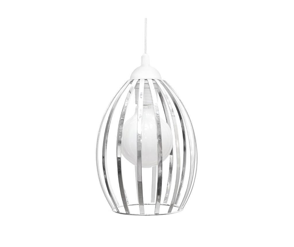 Závěsná lampa Dali White Chrome