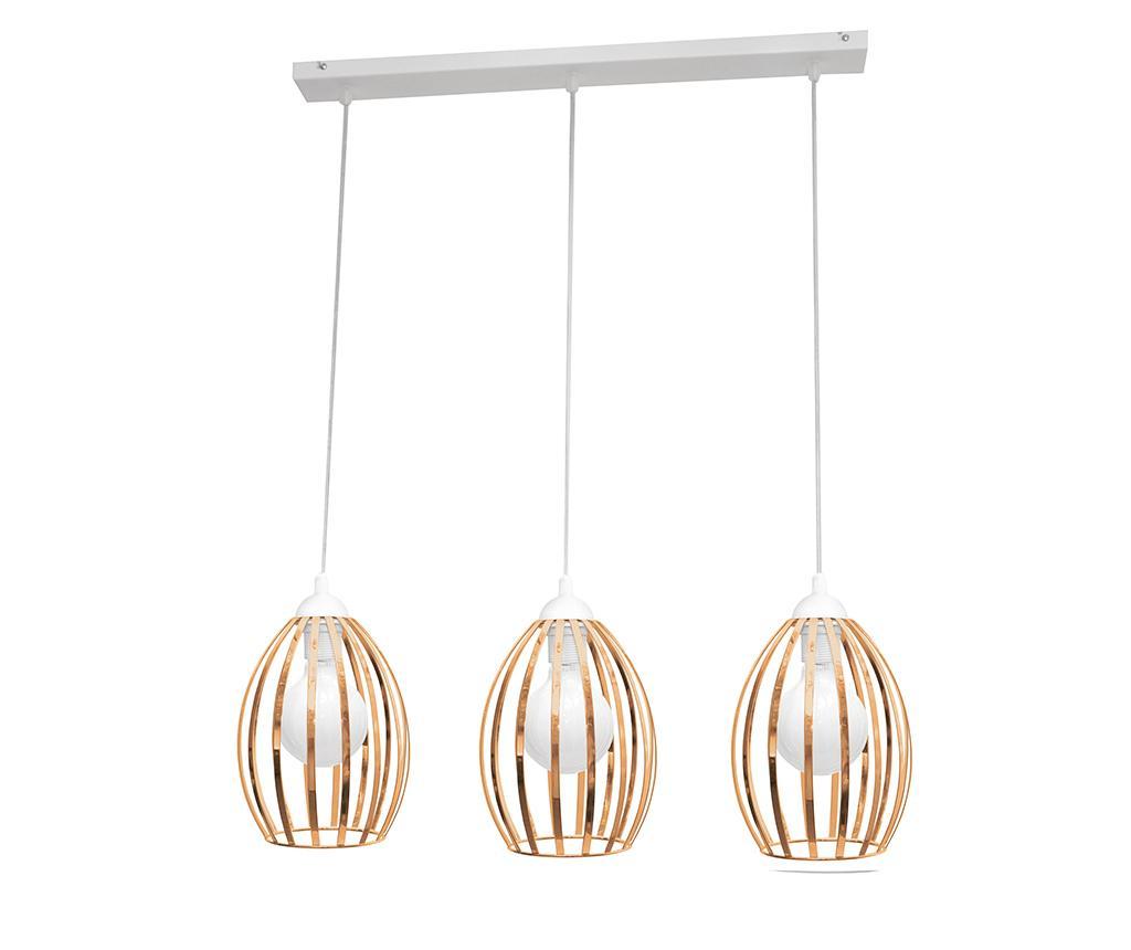 Závěsná lampa Dali Three White Brass