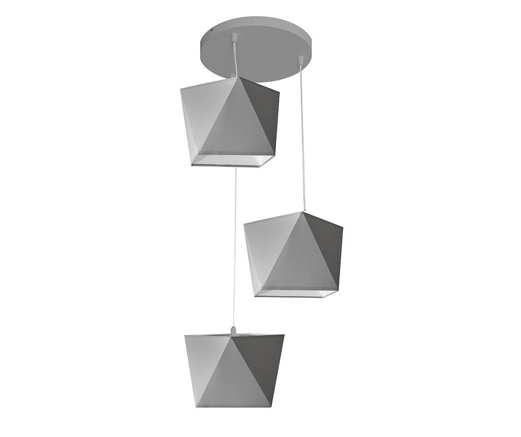 Lustra Adamant Three Grey - Helam, Gri & Argintiu poza noua