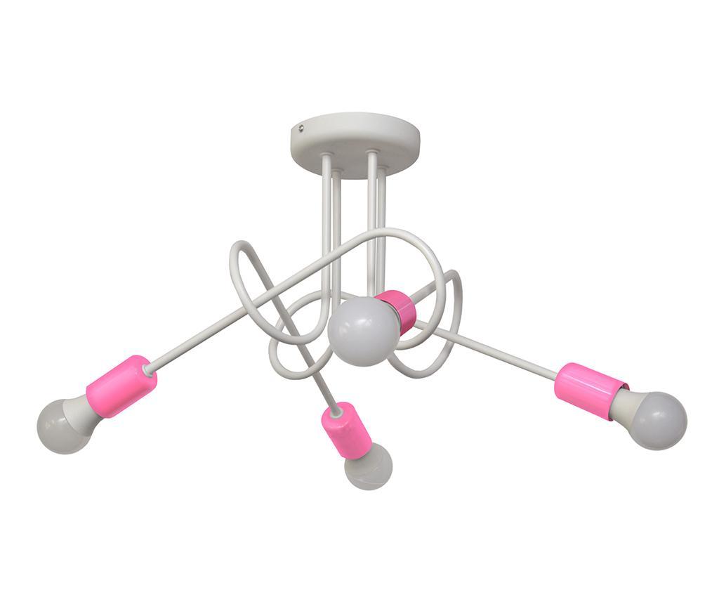 Lustra Oxford Oda Four White Pink - Helam, Alb,Roz de la Helam