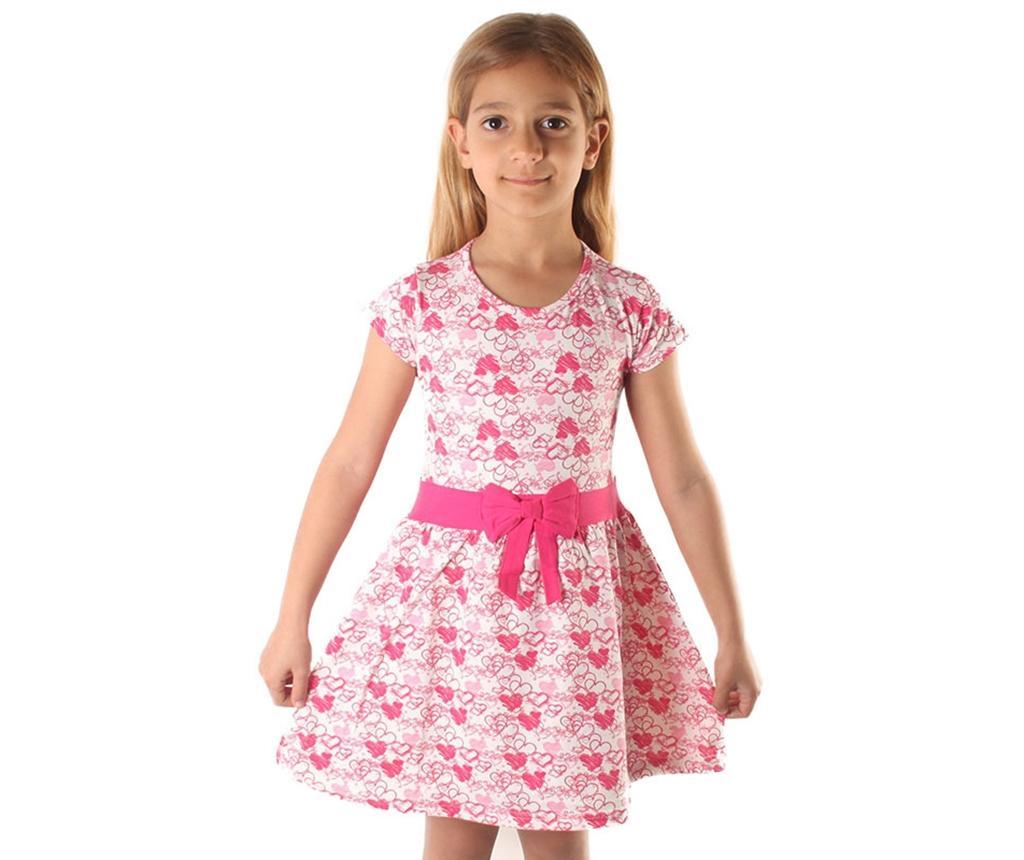 Rochie copii Heart Bow 4-5 ani