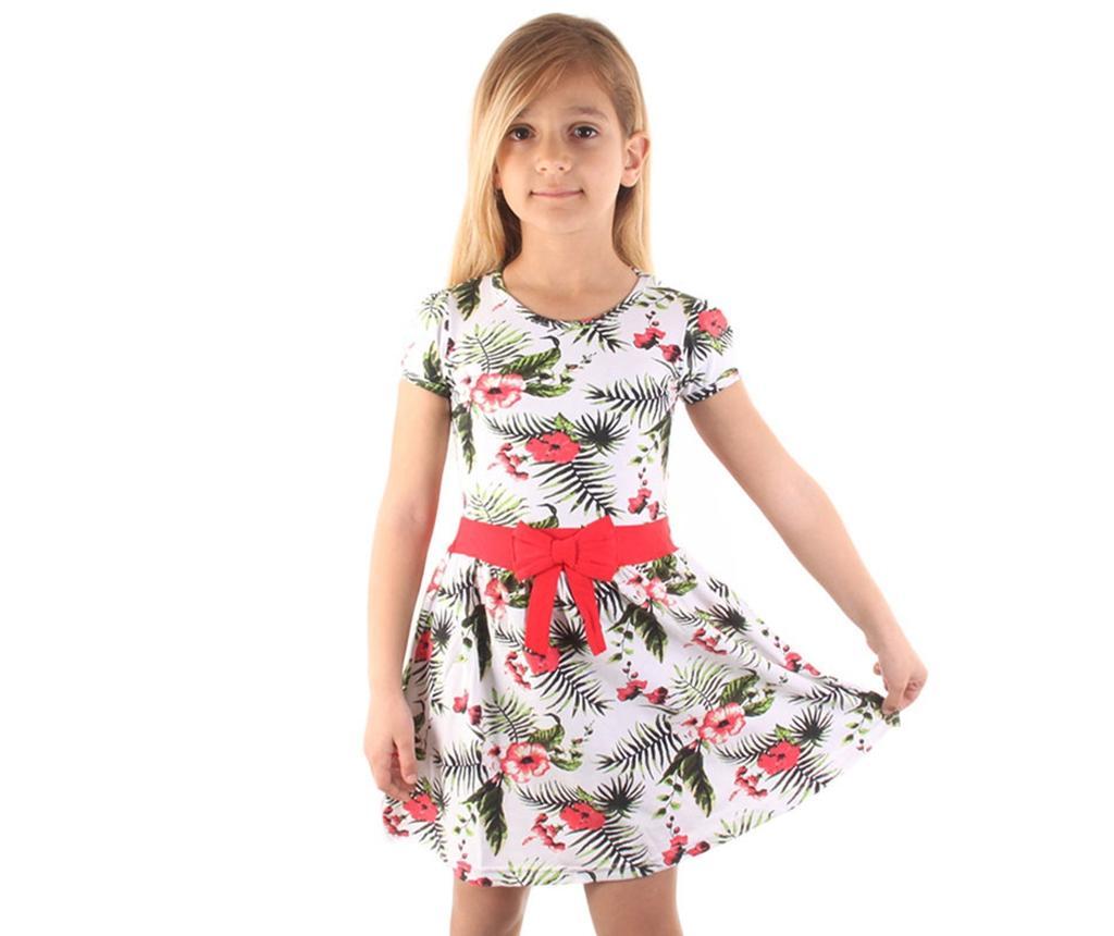 Rochie copii Flower Bow Red 8-9 ani