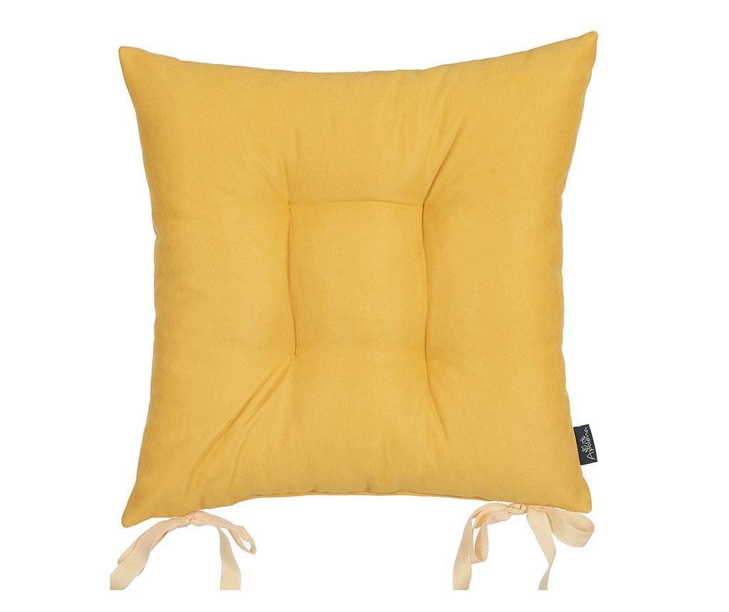 Perna de sezut Bronx Yellow 37x37 cm