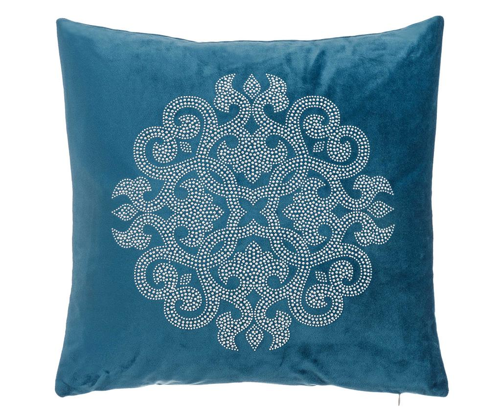 Perna decorativa Glam Rosette Blue 43x43 cm imagine