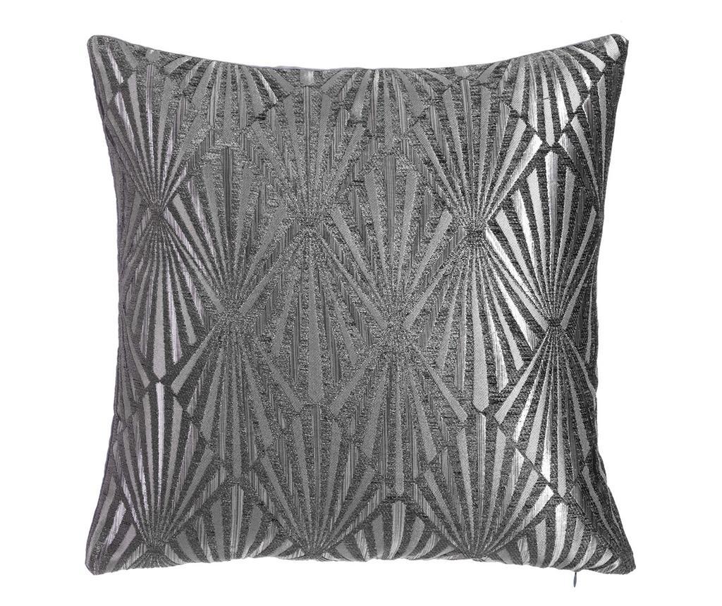Perna decorativa Metallic Glam Silver 45x45 cm - Ixia, Gri & Argintiu poza