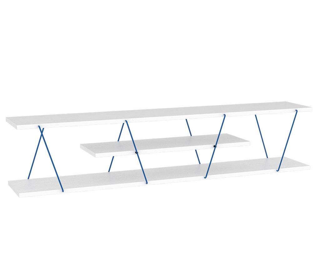 Comoda TV Tars White Blue - Rafevi, Alb imagine