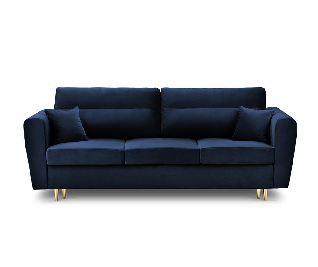 Canapea extensibila 3 locuri Remy Royal Blue imagine