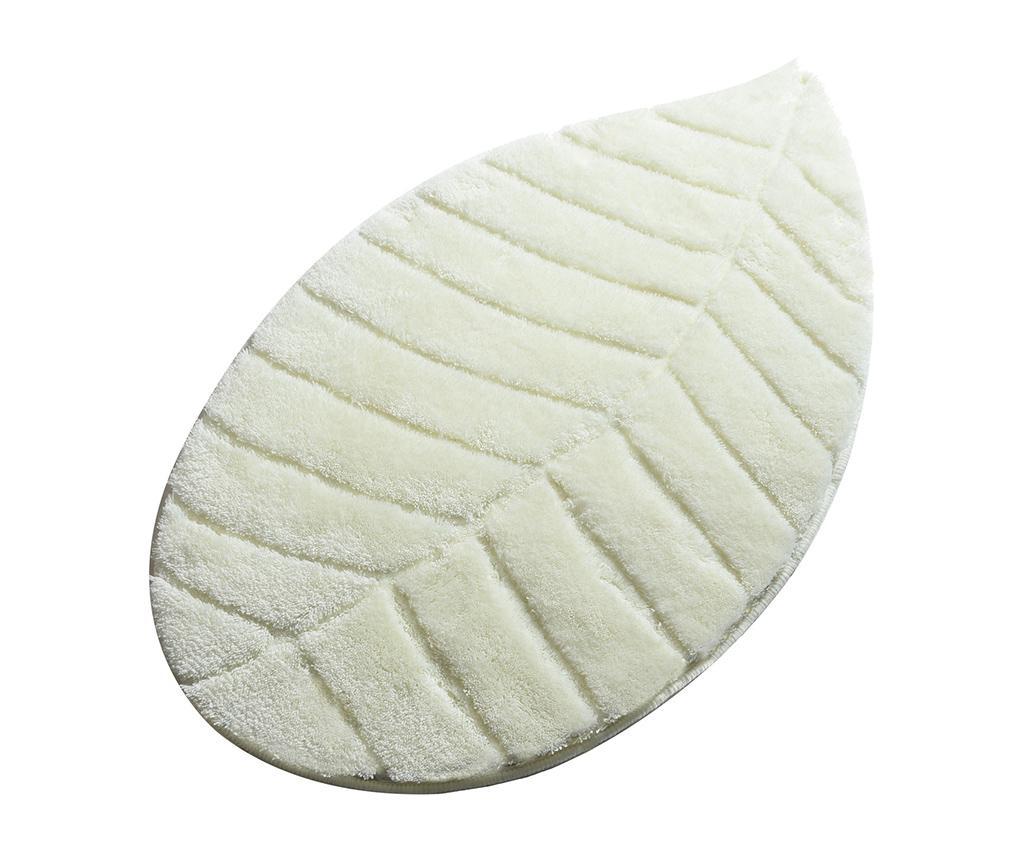 Covoras de baie Jungle Leaf White 60x100 cm - Chilai Home, Alb