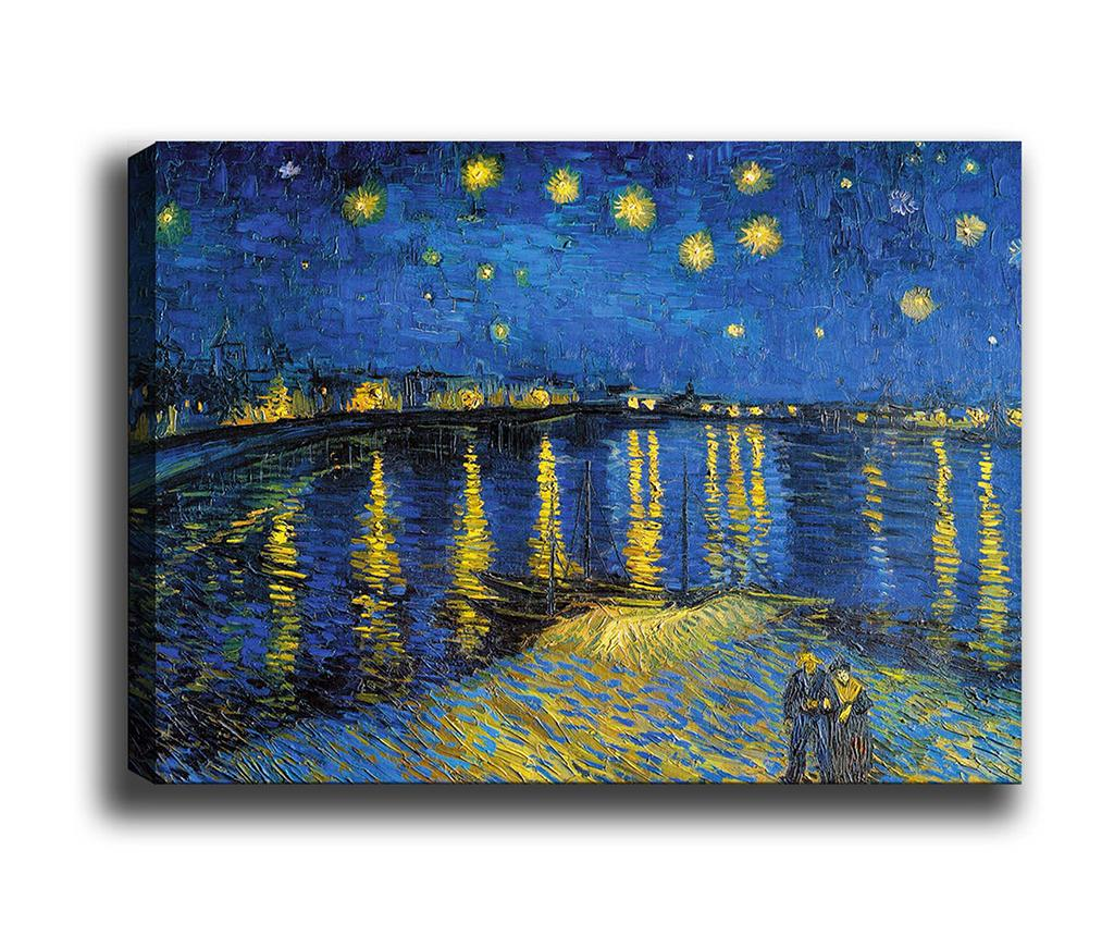 Tablou Starry Night Over the Rhone 70x100 cm imagine