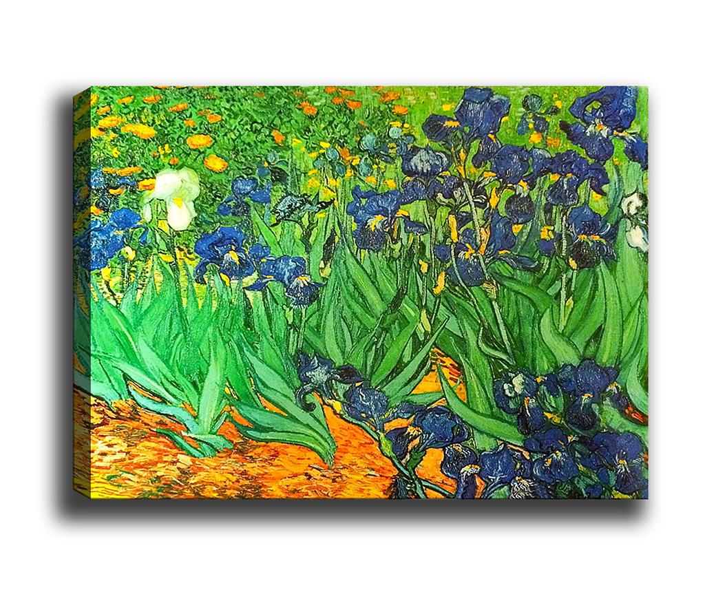 Tablou Irises Garden 70x100 cm - Tablo Center, Multicolor imagine