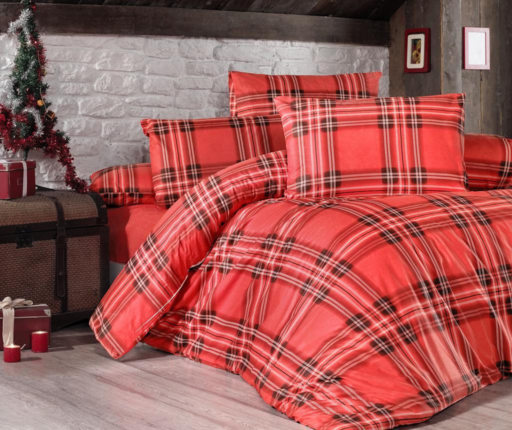 Ložní povlečení King Ranforce Checkered Red 200x220