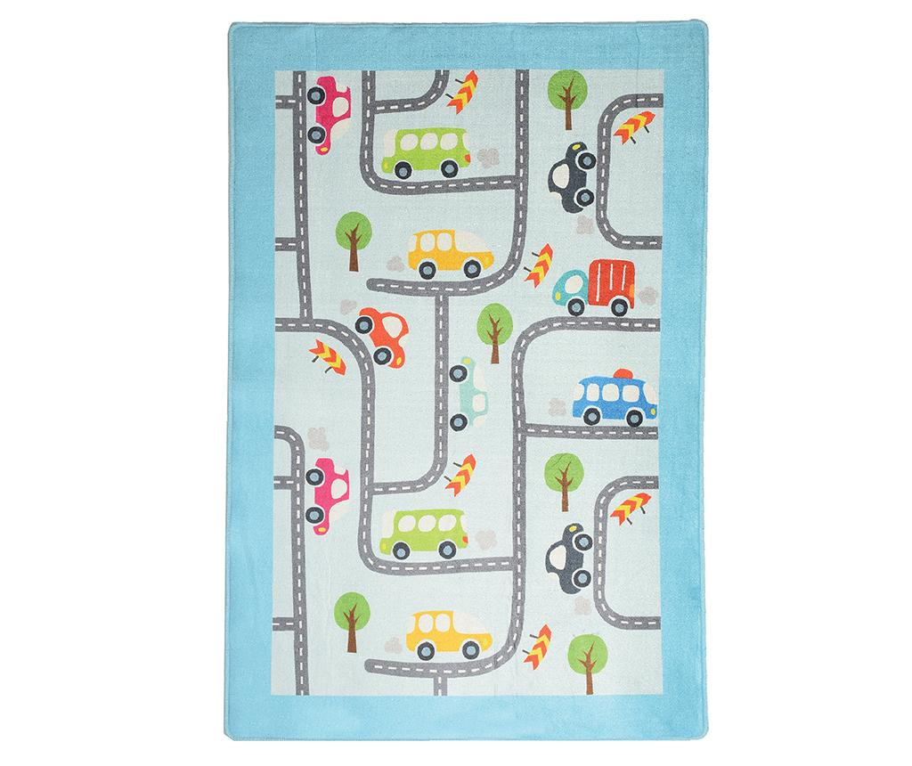 Covor de joaca Baby Cars 100x160 cm vivre.ro