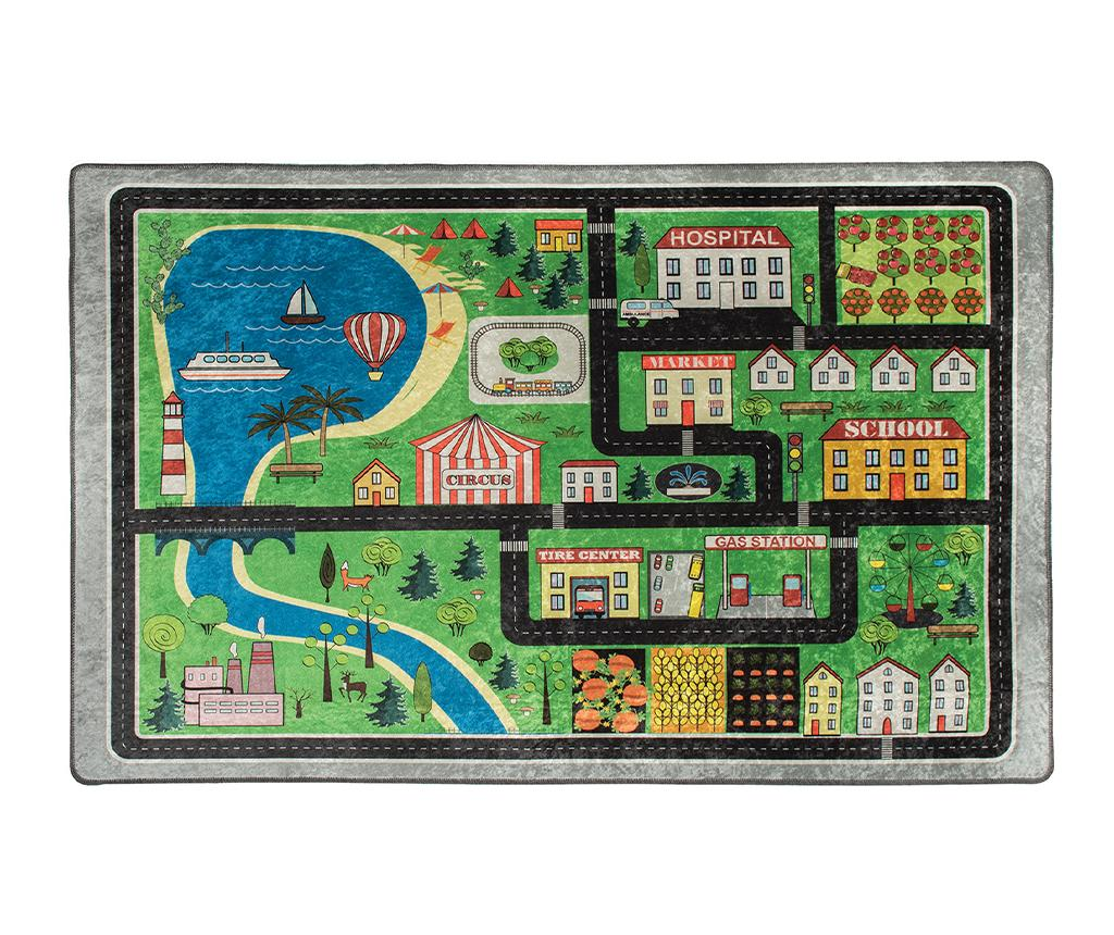 Covor de joaca Traffic 200x290 cm - Chilai, Multicolor