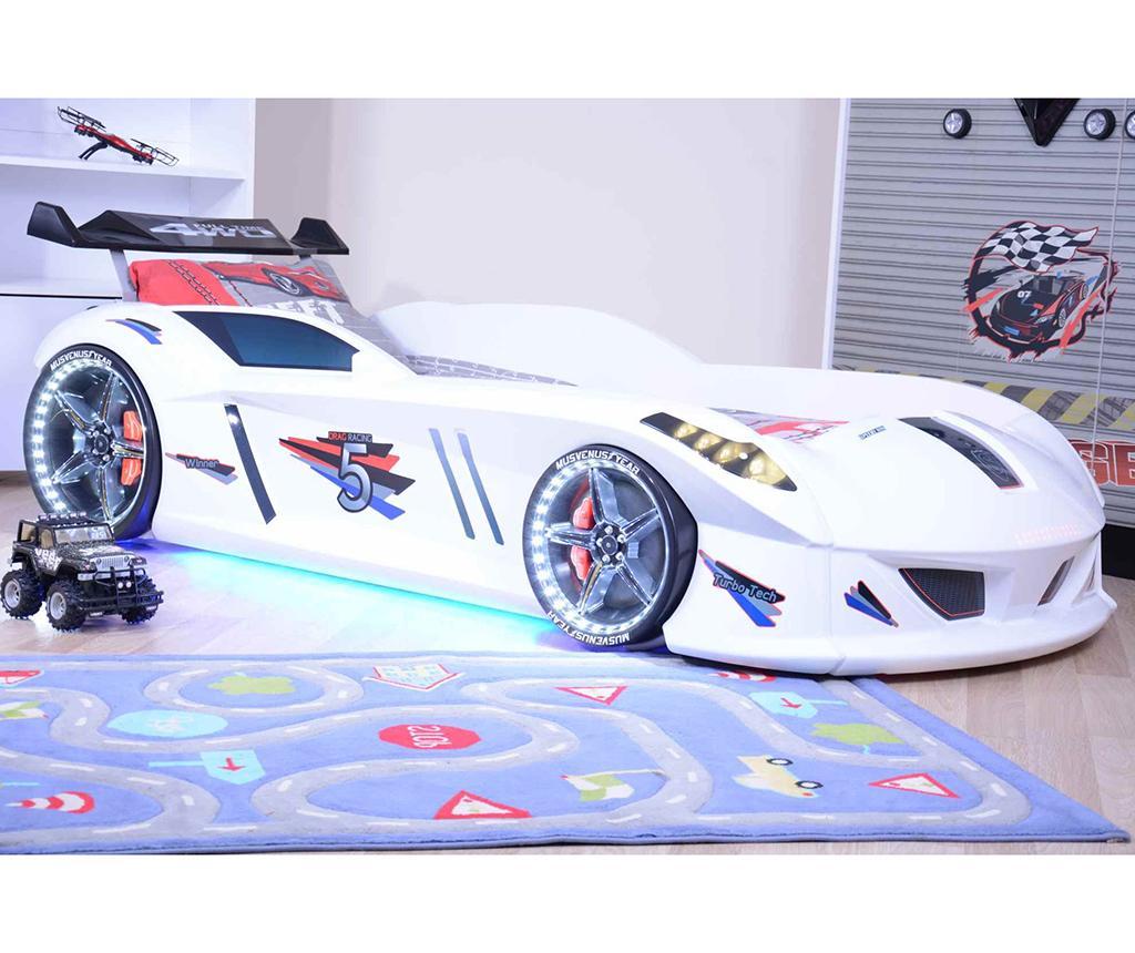 Cadru de pat pentru copii Speedy White - Musvenus, Alb poza