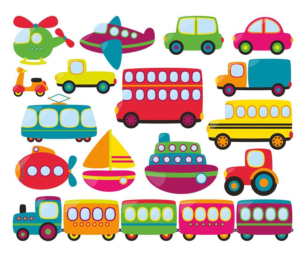 Set 15 stickere Transport - Evila Originals, Multicolor