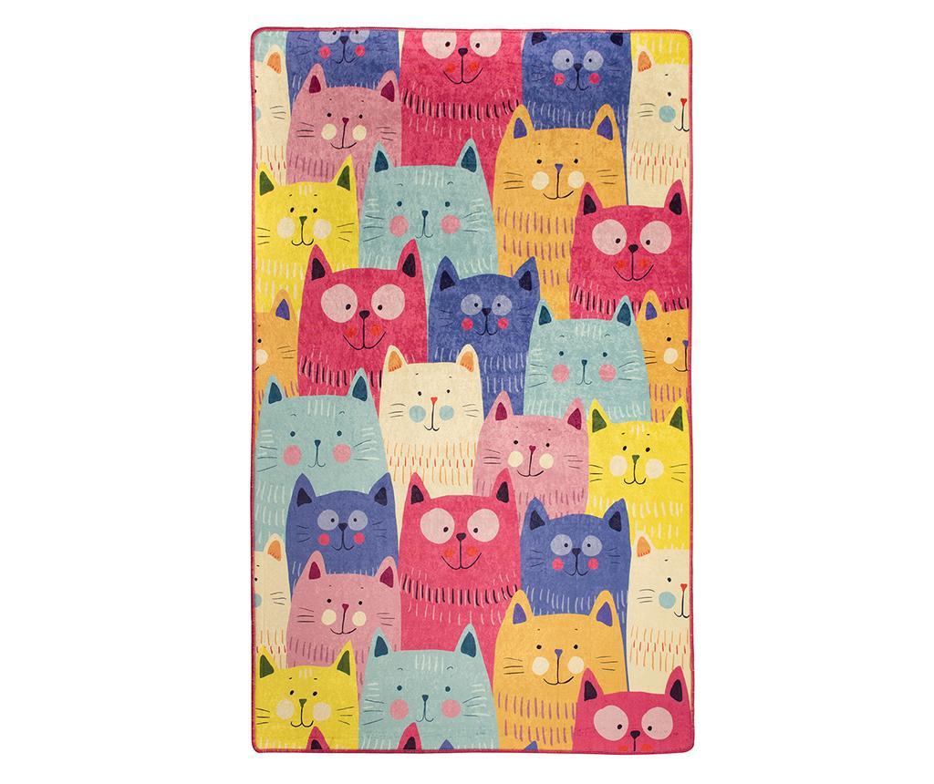 Covor Cats Multi 140x190 cm - Chilai, Multicolor imagine