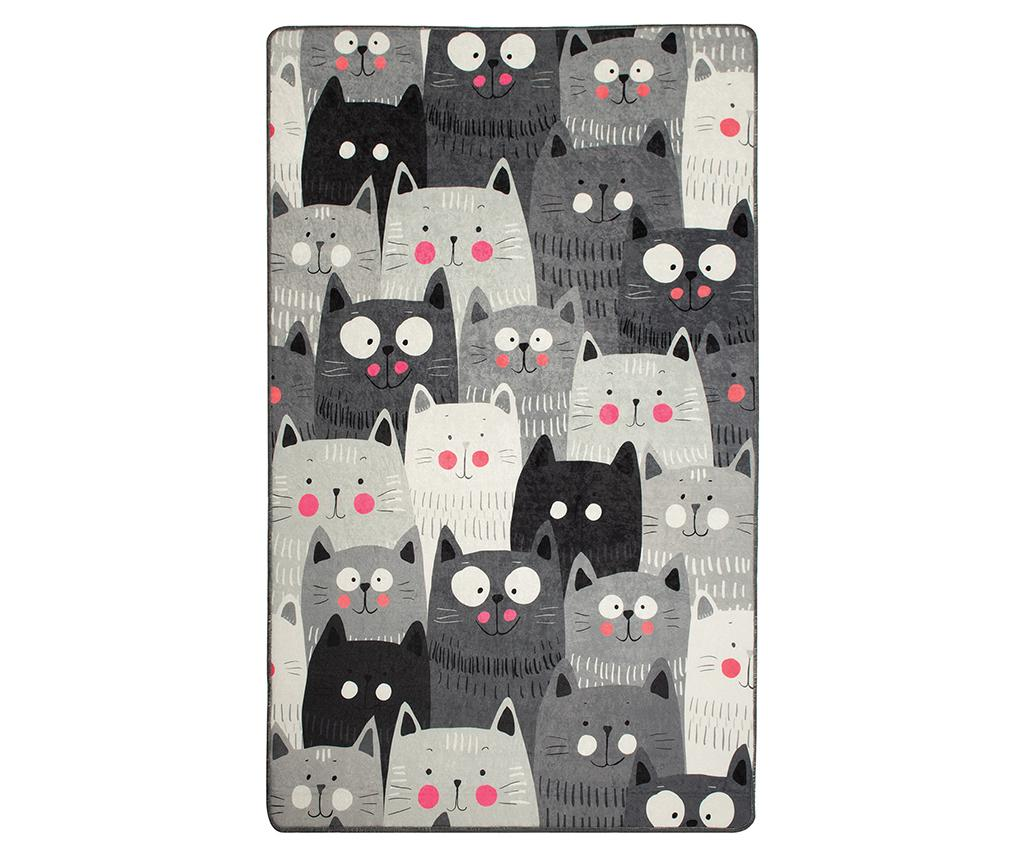 Covor Cats Grey 100x160 cm vivre.ro
