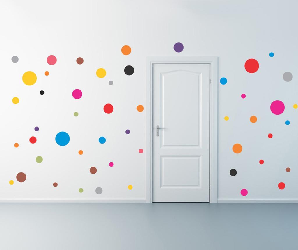 Set 53 stickere Dots - Evila Originals, Multicolor