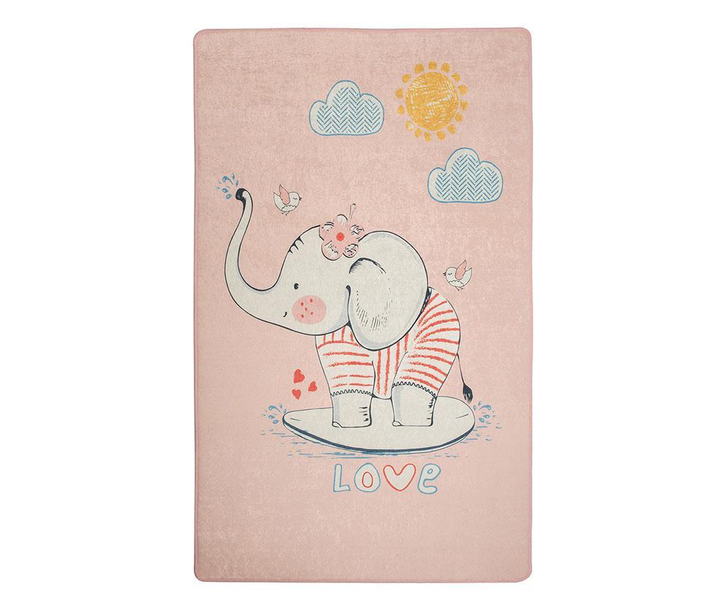 Covor Lovely Pink 140x190 cm - Wooden Art, Multicolor imagine
