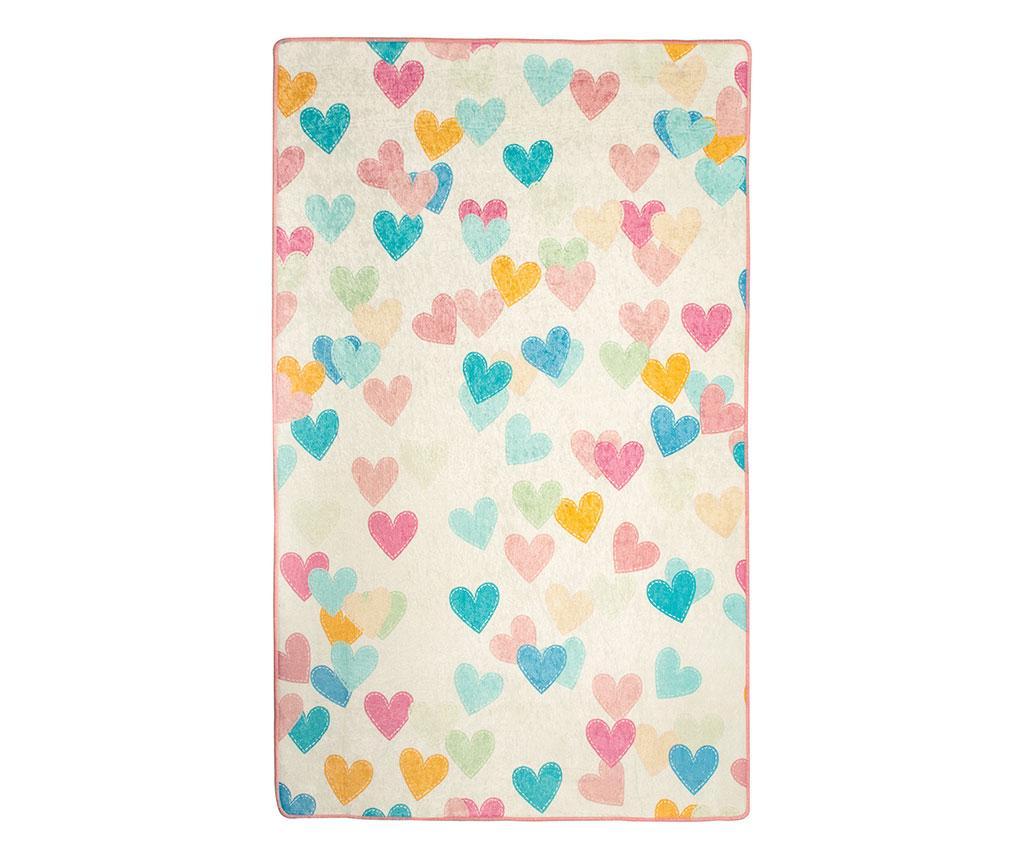 Covor Hearts 140x190 cm - Chilai, Multicolor imagine