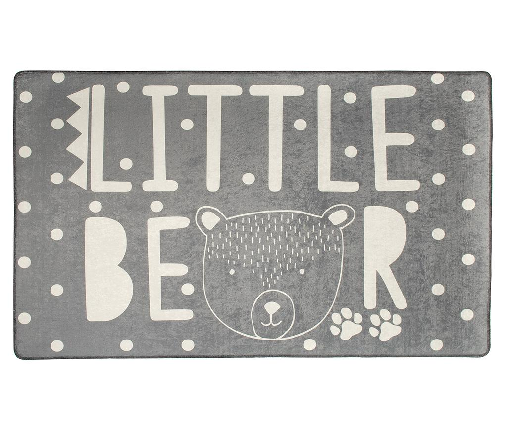 Covor Little Bear Grey 100x160 cm - Chilai, Gri & Argintiu imagine