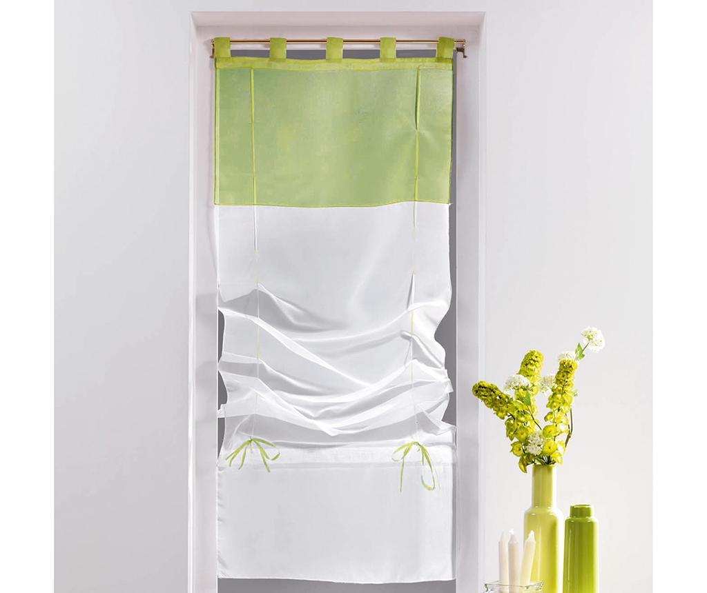 Perdea Voile Duo White & Lime 60x180 cm