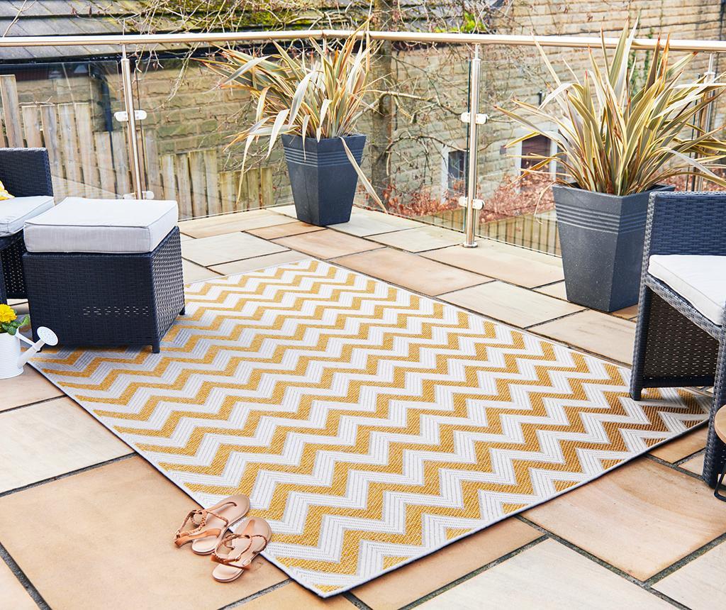 Covor Trieste Yellow 160x230 cm - Flair Rugs, Galben & Auriu poza
